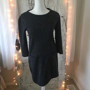 Adrienne Vittadini Pocket Sweater Dress/Tunic